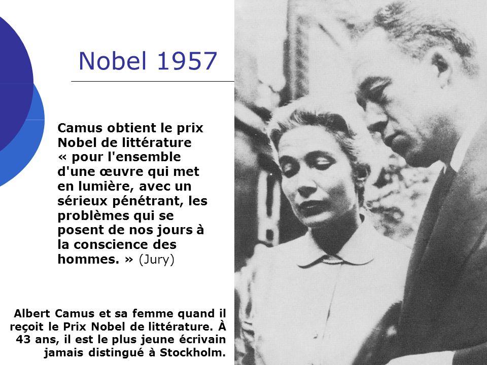 ALBERT CAMUS Nobel 1957